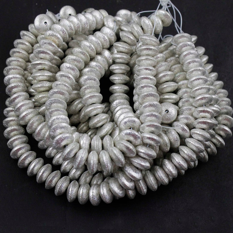 silver 10 mm* black AAA rondelle spacer beads option for size 6 8