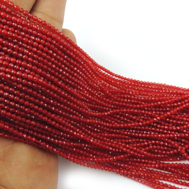 20 Strands Red Aventurine Balls jewelry making supplies 2mm 13 inch Long GB037 Faceted Balls Beads Gemstone beads
