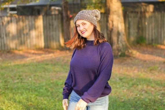 Navy Blue Turtleneck Sweater, Vintage Navy Blue Sw