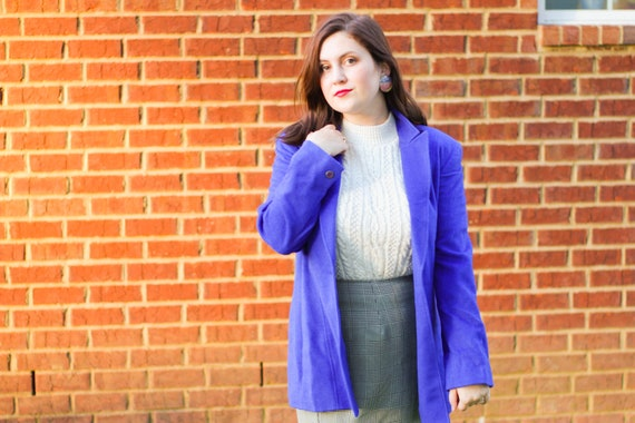 Vintage Blue Peacoat, Bright Blue Peacoat, Vintage