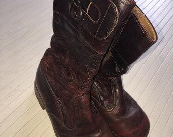 71702e21705248 Stiefel 70er Vintage Waldorf Hippie 29 Boots Schuhe Oldschool