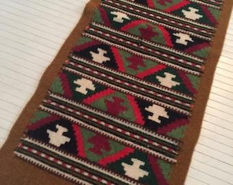 Vintage-Quadrat-Muster marokkanisch Tischläufer