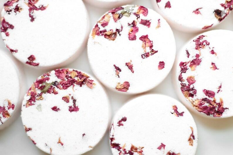 Rose & Bergamot Natural Bath Bomb with Pure Essential Oils image 0