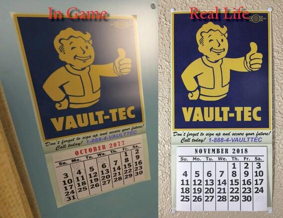 Un-Official Handmade Fallout 4 Calendar for 2020