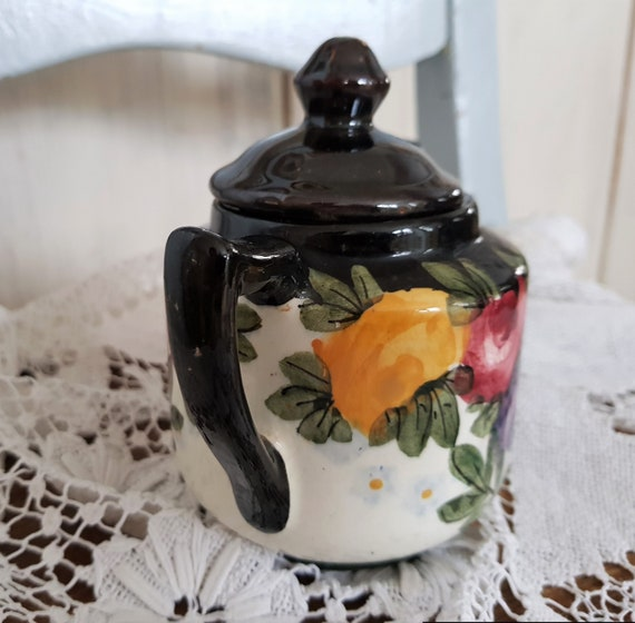 Very old hand-painted sugar tin