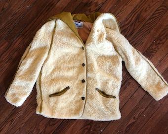 Vintage Teddy Fleece Jacket Women's made in Duluth MN