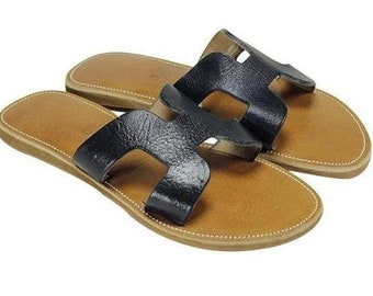 8f47c908231c Moroccan Hamdmade Leather Sandals Slides