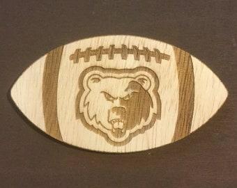 Grizzly Head Logo Football Door Hanger or Cutout Wall