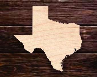 UNFINISHED Wood TX Silhouette  Texas State Shape  Any State Wood Sign  Wood Home Sign  Wooden State Outline