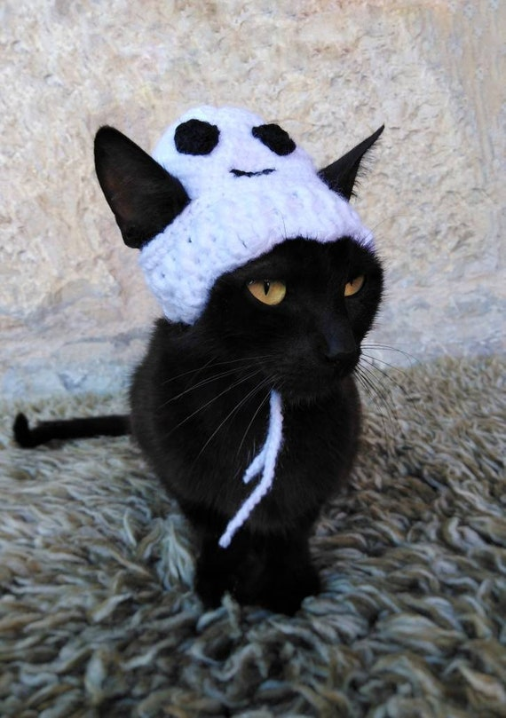 Halloween Ghost Hat for Cat, Halloween Costume, Hats for Cats, Cat  Accessories