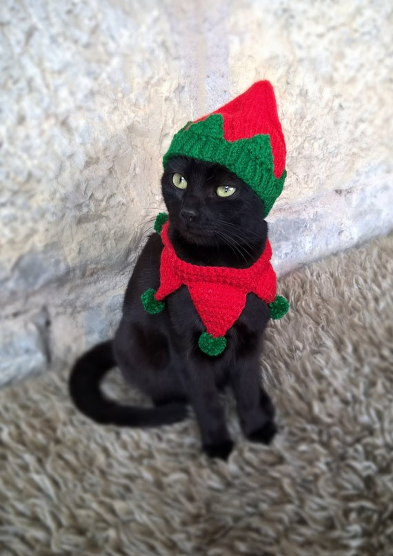 image 0 - Elf Pet Costume Christmas Costume For Cat Elf Hat For Cats Etsy