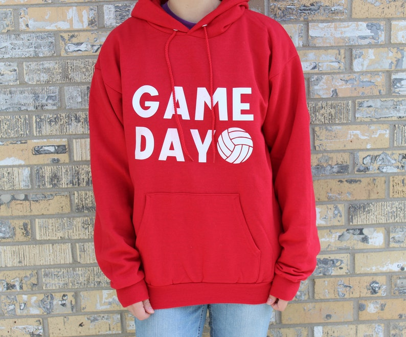 Funny Game Day Volleyball Team Personalized Custom Hoodie