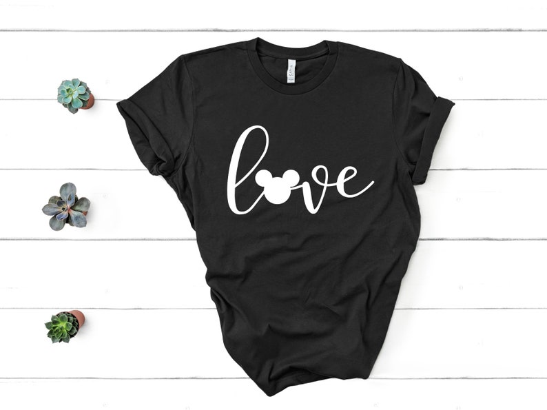 eed7f4d7 Mickey Mouse Love T Shirt Disney Inspired WDW Womens | Etsy