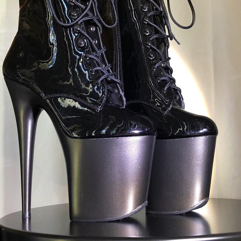 3719eeb6878 Heel Art Boots - Custom Pole Dance, Stripper Heels, Pleaser, Burlesque Heels