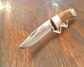 Vintage Camillus Sword Brand 2 Folding Pocket Knife Made in USA 1 Blade Plain Edge Stainless Steel Wood Handle