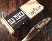 Vintage Schrade Middleman Jack Folding Pocket Knife Knives Knifes Made In USA 2 Blade Plain Edge Carbon Steel Survival Lot6198