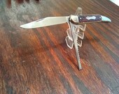 Vintage Colonial Fish Folding Pocket Knife Made in USA