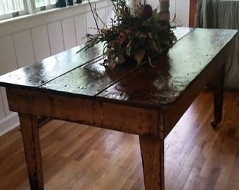 ANTIQUE Handmade Farm Table