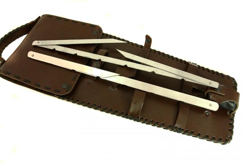 knives and skewers. Includes axe Shish Kabob set