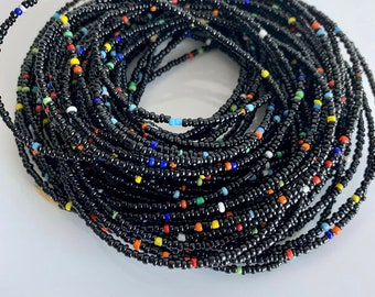 other variety colors available made with love! stretchable cord Variety Wooden Waist Beads Without clasp or charms Custom to order