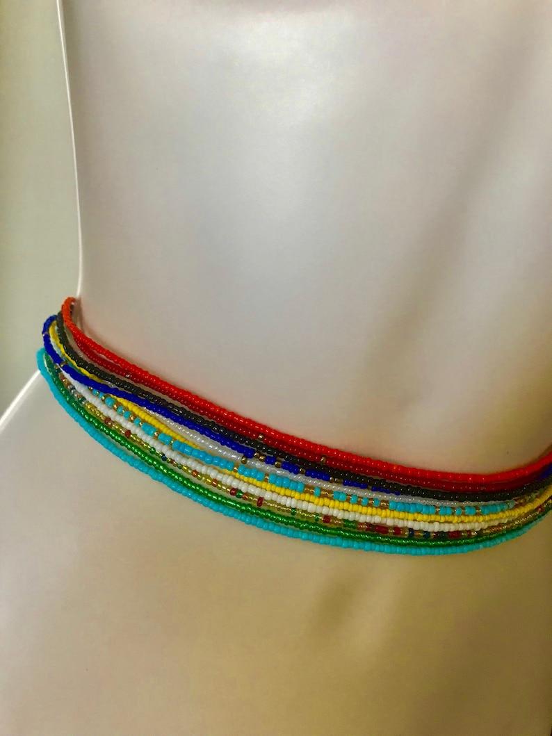 Queen Bee Waist Beads With Clasps Belly Jewelry Waist Shaper Waist Beads Belly Chain Belly Beads Weightloss Tracker