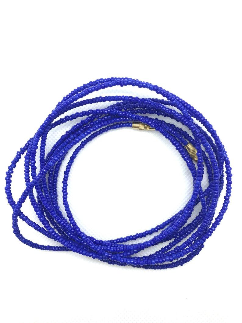Royal Blue Waist Beads Weighloss Tracker African Waist Beads Waistbeads With Clasps Waist Beads Belly Beads Waist Shaper