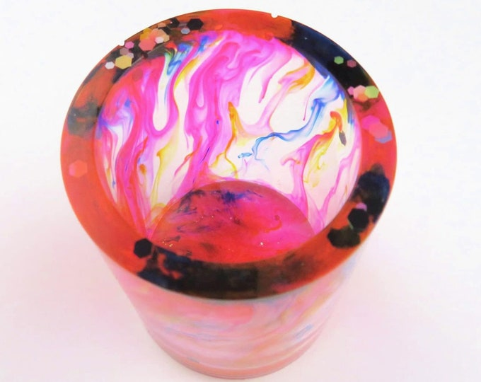 Colourful Resin Drip Pen Cup / Plant Pot