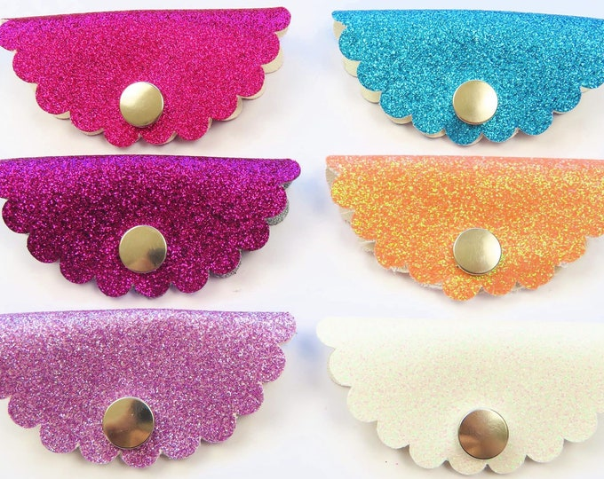 Headphone Organizer | Earbud organisation | Glitter Faux Leather
