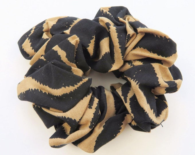 Animal Stripe Print Soft Cotton Elastic Scrunchie