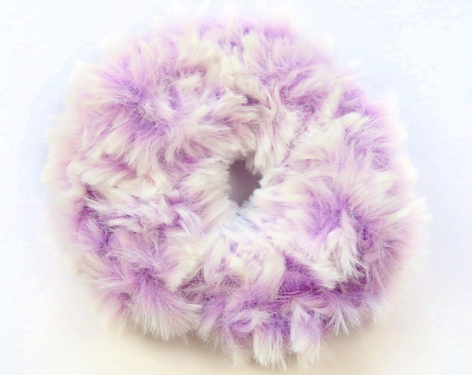 Fluffy Crochet Scrunchie - Light Purple