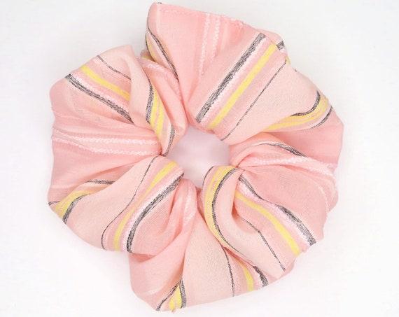 Pale Pink Stripe Scrunchie