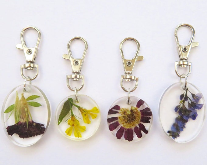 Pressed Flower Resin Key Chains