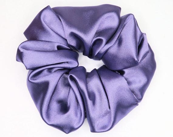 Soft Royal Purple Satin Scrunchie