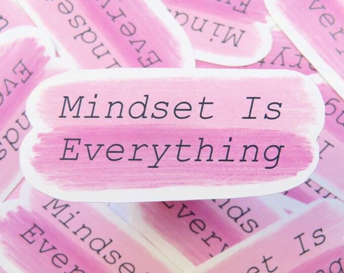 Mindset is Everything | Pink Die Cut Sticker