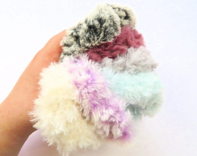 Fluffy Crochet Scrunchies Bundle