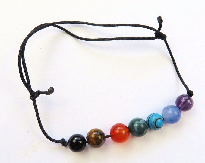 Chakra Gemstone Bracelet | Genuine Crystal Chakra Anklet | Bohemian Boho Jewellery