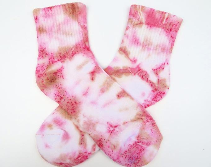 Pink and Tan Tie Dye Socks