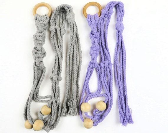 Macrame Beaded Rope Plant Hanging Holders