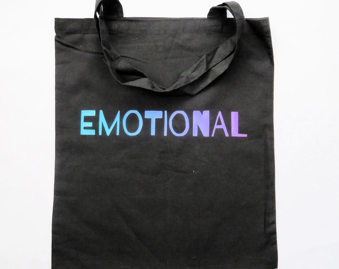EMOTIONAL Ombre Blue and Purple Tote Bag