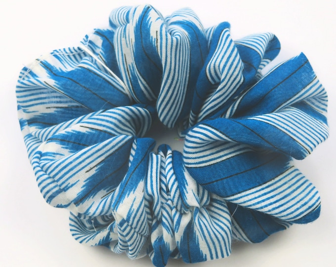 Dark Blue Stripe Scrunchie