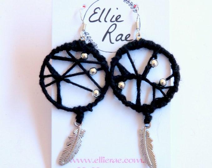 Dream Catcher Crochet Earrings