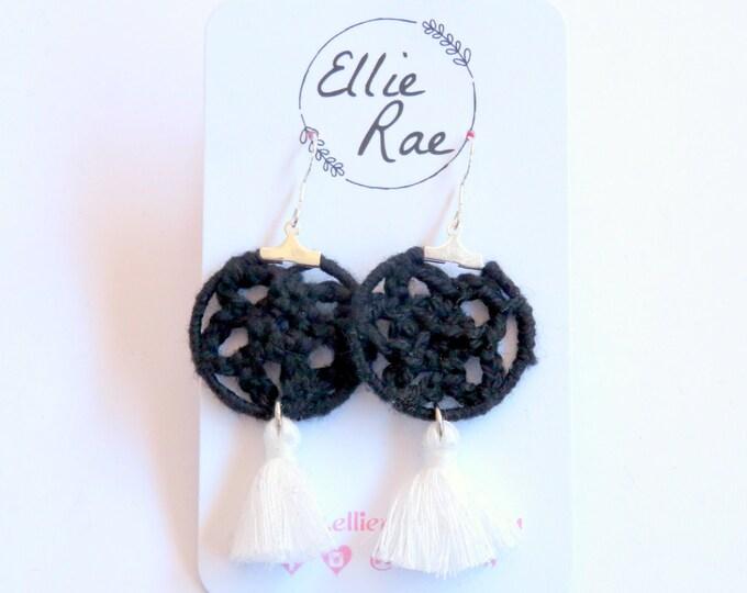 Crochet and Tassel Earrings