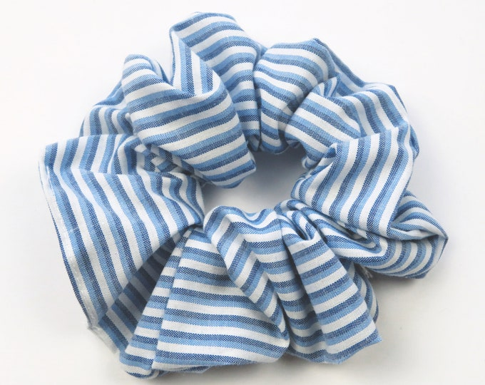 Light Blue Stripe Scrunchie