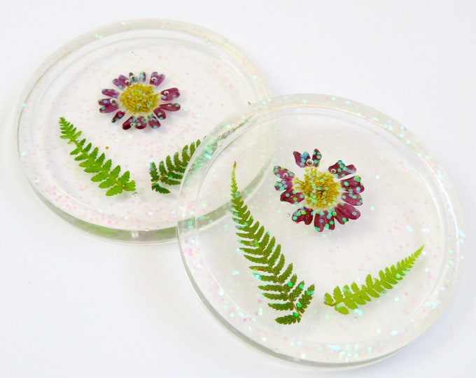 Pressed Flower Resin Coasters