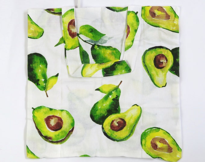 Avocado Foldable Tote Bag
