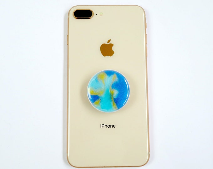 Ripple Blue Resin Pop Sockets