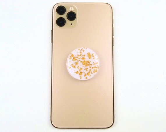 Gold Foil Resin Phone Grips Stand