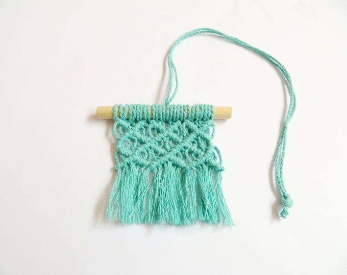 Turquoise Small Macrame Hanging