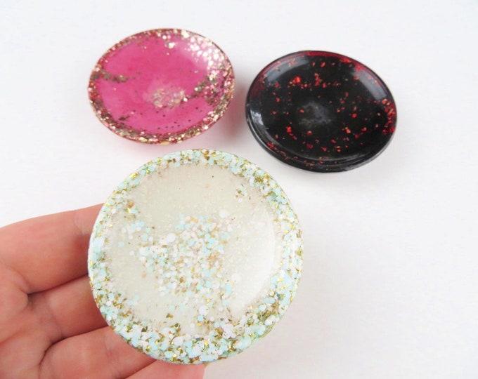 Mini Glitter Resin Jewellery Dish Ring Bowl
