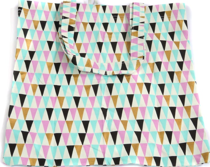 Pastel Triangle Foldable Tote Bag